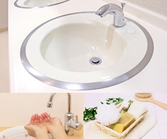 キッチン・浴室・洗面台の3点クリーニング